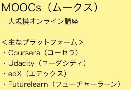 ムークス(MOOCs)は、無料のオンライン授業