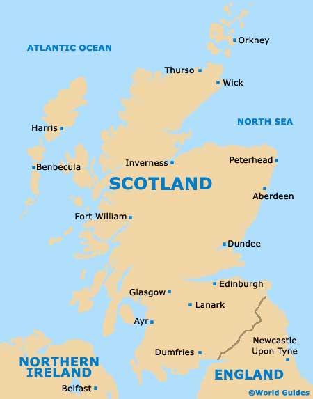 スコットランドの地図