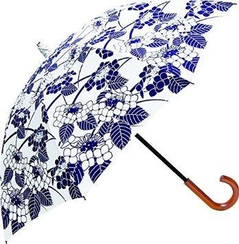紫陽花の柄の日傘