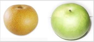 赤梨と青梨