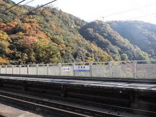 JR保津峡駅の紅葉