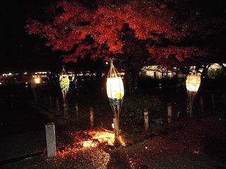 京都・嵐山花灯路と紅葉
