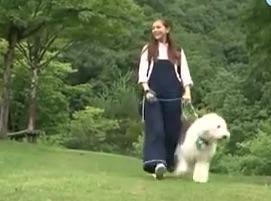 セレイナ・アンと可愛い犬のそら(ZIP! あおぞらキャラバン)